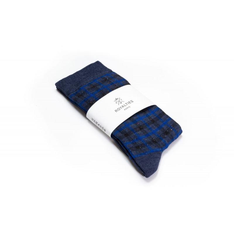 Chaussettes homme Greg Indigo - Royalties - Vue 1