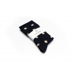 Chaussettes Femme Duchesse Navy Royalties - Vue 1