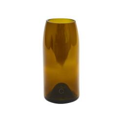 """Petit vase brun/jaune, """"Rire"""" - Q de bouteille"""