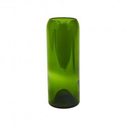 """Petit vase vert, fillette """"débattre"""" - Q de bouteilles"""