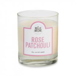 Bougie senteur rose patchouli - La Belle Meche