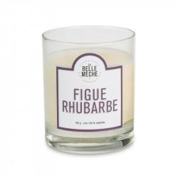 Bougie senteur figue rhubarbe - La Belle Meche