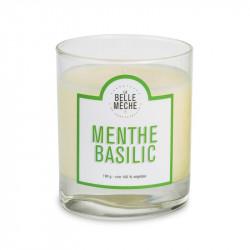 Bougie senteur menthe basilic - La Belle Meche