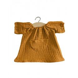 Robe Jeanne en coton double gaze camel - Minikane - Par Monts et Par Vaux