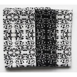Foulard Gypsophile noir et blanc - Les belles vagabondes - Par Monts et Par Vaux