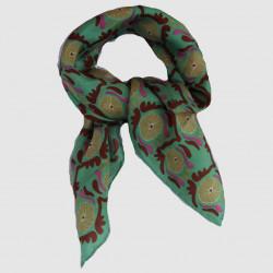 Jaipur vert mini foulard - Les belles vagabondes - Par Monts et Par Vaux