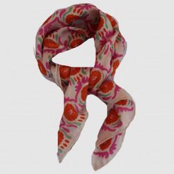 Jaipur rose-orange mini foulard - Les belles vagabondes - Par Monts et Par Vaux