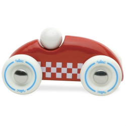 Mini voiture de course bois vernis rouge - Vilac - Par Monts et Par Vaux