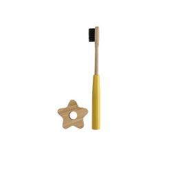 Brosse à dents jaune bambou - Cookut - Par Monts et Par Vaux