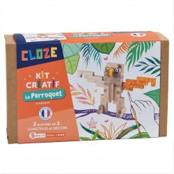 Perroquet en bois à construire - Cloze - Par Monts et Par Vaux