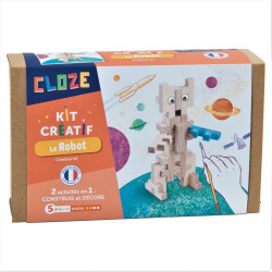 Robot en bois à construire - Cloze - Par Monts et Par Vaux - Packaging