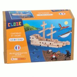 Bateau de pirate en bois à construire - Cloze - Par Monts et Par Vaux