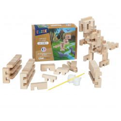 T-Rex en bois à construire - Cloze - Par Monts et Par Vaux - contenu