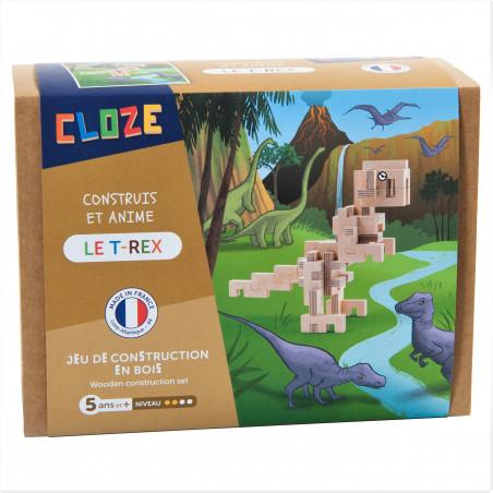 T-Rex en bois à construire - Cloze - Par Monts et Par Vaux - packaging