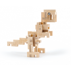 T-Rex en bois à construire - Cloze - Par Monts et Par Vaux - monté
