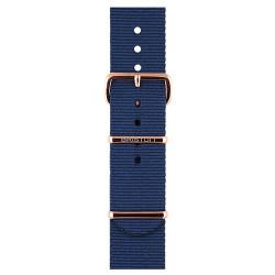 Bracelet bleu marine/ or rose - Briston - Par Monts et Par Vaux