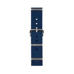 Bracelet bleu marine/ acier - Briston - Par Monts et Par Vaux