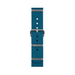 Bracelet bleu canard/ acier - Briston - Par Monts et Par Vaux
