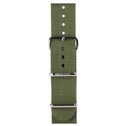 Bracelet vert militaire/ acier - Briston - Par Monts et Par Vaux