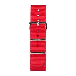 Bracelet rouge/ acier - Briston - Par Monts et Par Vaux
