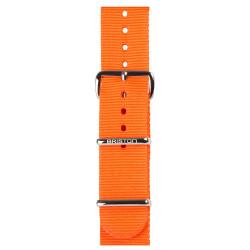 Bracelet orange/ acier - Briston - Par Monts et Par Vaux