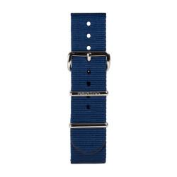 Bracelet marine/ acier - Briston - Par Monts et Par Vaux