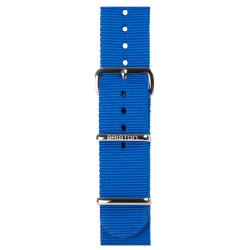 Bracelet bleu electrique/ acier - Briston - Par Monts et Par Vaux