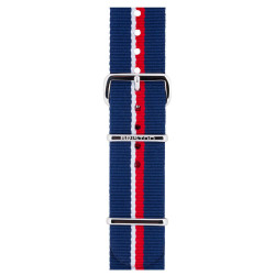 Bracelet rouge marine/ acier