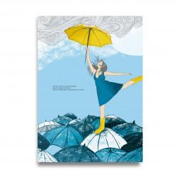 Affiche positive -Danser sous la pluie - Décopositive - zoom
