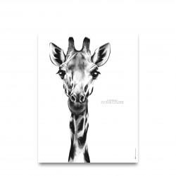 Affiche positive - Girafe - Décopositive - Par Monts et Par Vaux - zoom