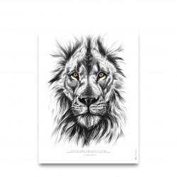Affiche positive - La force du lion - Décopositive - Par Monts et Par Vaux - zoom