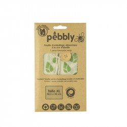 Feuille d'emballage alimentaire à la cire d'abeille - Pebbly - Par Monts et Par Vaux