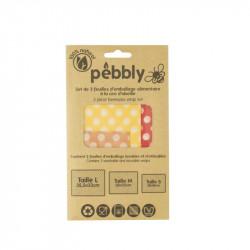 Set de 3 feuilles d'emballage alimentaire - Pebbly - Par Monts et Par Vaux