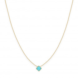 Collier court jade turquoise