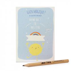 Carte postale à gratter magique bleu, Agent Paper