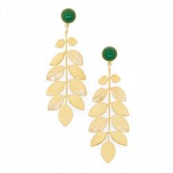 Boucles d'oreilles athéna agathe verte - Collection Constance - Par Monts et Par Vaux