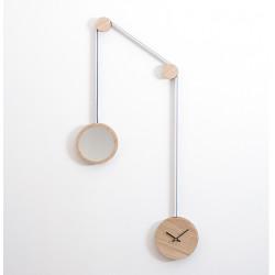 Horloge miroir pendule bleu - Drugeot - Par Monts et Par Vaux