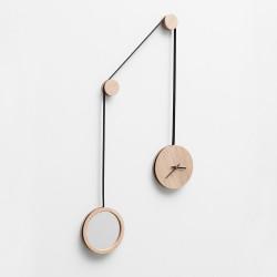 Horloge miroir pendule noir - Drugeot - Par Monts et Par Vaux