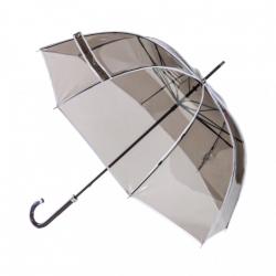 Parapluie transparent fumé bordé blanc - Piganiol - Par Monts et Par Vaux