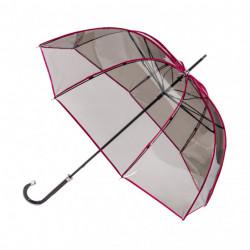Parapluie transparent fumé bordé rose - Piganiol - Par Monts et Par Vaux