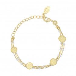 Bracelet olympe émail blanc - Collection Constance - Par Monts et Par Vaux - zoom