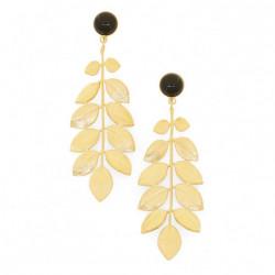 Boucles d'oreilles athéna quartz noir - Par Monts et Par Vaux - Collection Constance