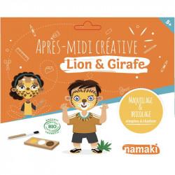 Pochette créative Lions et Girafe - Namaki - Par Monts et Par Vaux