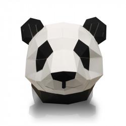 Edouard le panda, trophée en papier - face