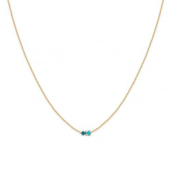 Collier court amants light turquoise, bdm studio - zoom