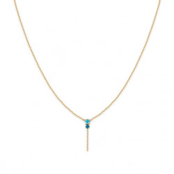 Collier Pendant amants light turquoise, BDM STUDIO - zoom