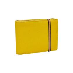 Portefeuille-porte monnaie jaune, Carré Royal - face