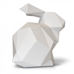 LAPIN BLANC, trophée en papier Agent Paper, profil 1