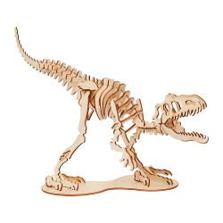 Tyrannosaure,  trophée en bois - Agent Paper - profil