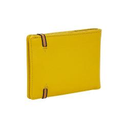 Portefeuille-porte cartes jaune - dos
